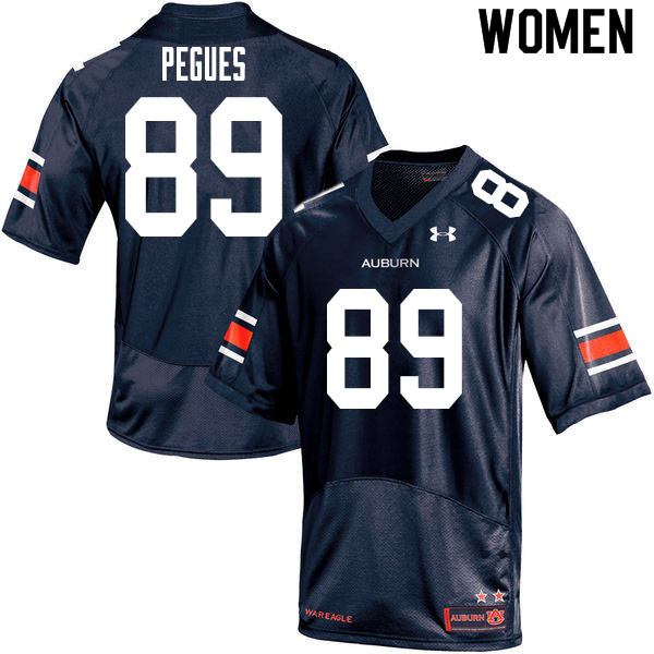 Women #89 J.J. Pegues Auburn Tigers College Football Jerseys Sale-Navy